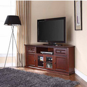 60'' Corner TV Stand in Vintage Mahogany, 59-3/4''W x 23-1/2''D x 26-1/2''H