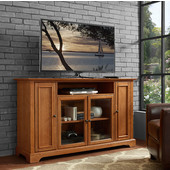 Campbell 60'' TV Stand, Oak Finish, 60''W x 19''D x 35-3/4''H