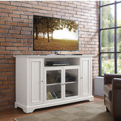 Campbell 60'' TV Stand, White Finish, 60''W x 19''D x 35-3/4''H