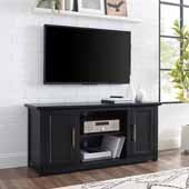 Camden 48'' Wide Low Profile TV Stand, Black, 47-3/4'' W x 15-3/4'' D x 22''H