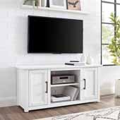 Camden 48'' Wide Low Profile TV Stand, Whitewash, 47-3/4'' W x 15-3/4'' D x 22''H