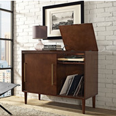 Everett Media Console, 44''W x 18''D x 34-1/2''H, Mahogany Finish