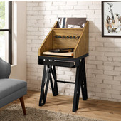 Brooklyn Turntable Stand, Natural Finish, 21''W x 24''D x 47''H