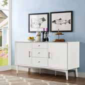 Landon Buffet, White Finish, 57''W x 19''D x 30''H