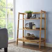 Landon Bookcase, Acorn Finish, 36''W x 15''D x 43-1/2''H