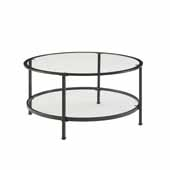 Aimee Coffee Table In Oil Rubbed Bronze, 35-7/8'' Diameter x 18'' H