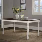 Shelby Dining Table with Rubbed Antique Top, White Finish, 47-1/4''W x 36''D x 30-3/4''H