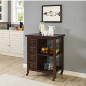 Sienna Kitchen Cart, Rustic Mahogany Finish, 32'' W x 23-5/8'' D x 40-7/8''H