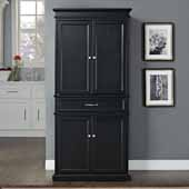 Parsons Pantry in Black, 33''W x 72''H