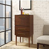 Everett Spirit Cabinet, 18-1/2'W x 24-1/2'D x 47'H, Mahogany Finish