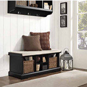 Brennan Entryway Storage Bench in Black, 42''W x 18-1/4''H