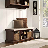 Brennan Entryway Storage Bench in Mahogany, 42''W x 18-1/4''H