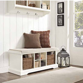 Brennan Entryway Storage Bench in White, 42''W x 18-1/4''H