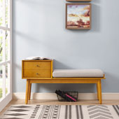 Landon Entryway Bench in Acorn
