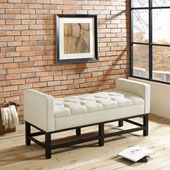 Claremont Upholstered Bench in Cr�me