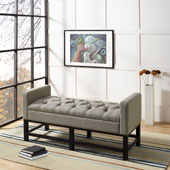 Claremont Upholstered Bench in Shadow Gray