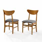 Landon 2-Piece Wood Dining Chairs W/Upholstered Seat In Acorn, 19-3/4'' W x 19-3/4'' D x 33-1/4'' H