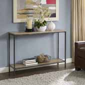 Brooke Console Table, Washed Oak Finish, 47-1/4''W x 13-3/4''D x 32''H