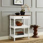 Heidi Accent Table in Distressed White