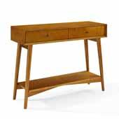 Landon Console Table, Acorn Finish, 42'W x 14'D x 32-1/2'H