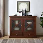 Jackson Collection Accent Cabinet in Mahogany, 42-3/25''W x 15-3/4''D x 32-3/4''H