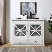Jackson Collection Accent Cabinet in White, 42-3/25''W x 15-3/4''D x 32-3/4''H
