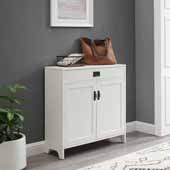 Fremont Accent Cabinet in Distressed White, 34-1/2'' W x 11-1/2'' D x 34-3/8'' H