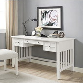 Adler Computer Desk, White Finish, 54''W x 28''D x 30''H