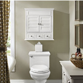 Lydia Wall Medicine Cabinet, 24-1/4''W x 9-1/4''D x 25-3/4''H, White Finish