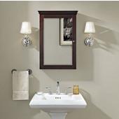 Lydia Mirrored Wall Medicine Cabinet, 19-1/4''W x 5-1/4''D x 28''H, Espresso Finish