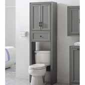 Tara Space Saver Cabinet, Vintage Gray Finish, 22''W x 11''D x 72''H
