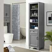 Tara Linen Cabinet, Vintage Gray Finish, 18''W x 15''D x 67-3/4''H