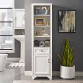 Tara Linen Cabinet, Vintage White Finish, 18''W x 15''D x 67-3/4''H