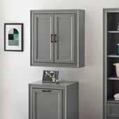 Tara Wall Cabinet, Vintage Gray Finish, 23-3/4''W x 8''D x 26''H