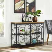 Roots Accent Cabinet in Black