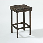 Crosley Palm Harbor Outdoor Wicker 24'' Counter Height Stool (Set of 2), 14-9/10''W x 14-9/10''D x 25-3/10''H