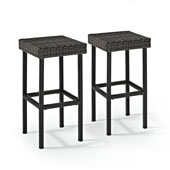 Palm Harbor Outdoor Wicker Bar Height Stool (Set Of 2)