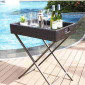 Palm Harbor Outdoor Wicker Butler Tray, 32''W x 18''H