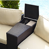 Crosley Catalina Outdoor Wicker Arm Table, 8-1/4''W x 32''D x 22-1/4''H