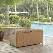 Palm Harbor Outdoor Wicker Storage Bin in Light Brown