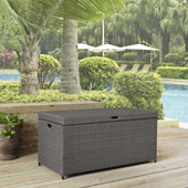 Palm Harbor Outdoor Wicker Storage Bin in Grey
