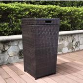 Palm Harbor Outdoor Wicker Trash Bin, 16''W x 32''H
