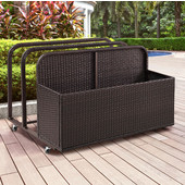 Palm Harbor Outdoor Wicker Float Caddy, 37-1/2''W x 44''D x 29-1/2''H