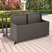 Palm Harbor Outdoor Wicker Float Caddy in Grey