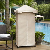 Palm Harbor Outdoor Wicker Towel Valet with Sand Cover, 31-1/2''W x 31-1/2''D x 79-3/4''H