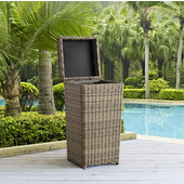 Crosley Furniture Outdoor Wicker Trash Can