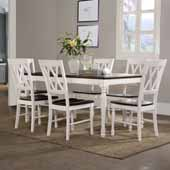 Shelby 7-Piece Dining Set, with Dining Table and 6 Chairs, White Finish