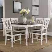 Shelby 5-Piece Dining Set, with Dining Table and 4 Chairs, White Finish