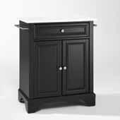 Lafayette Granite Top Portable Kitchen Island Cart In Black, 31'' W x 18'' D x 35-1/2'' H
