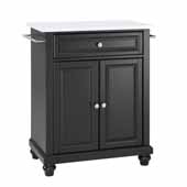 Cambridge Granite Top Portable Kitchen Island Cart In Black, 31'' W x 18'' D x 35'' H